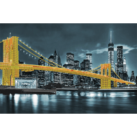 """Схема для вышивки бисером """"Бруклинский мост (жёлтый)"""" (Схема или набор)"""