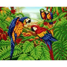 """Схема для вышивки бисером """"Попугаи"""" (Схема или набор)"""