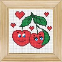 """Набор для вышивки нитками """"Влюбленные вишни"""""""