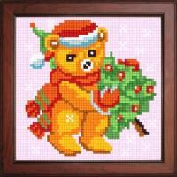 """Набор для вышивки нитками """"Медвежонок с елкой"""""""
