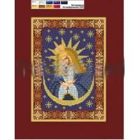 """Схема на холсте для вышивки бисером """"Святая Богородица Остробрамская"""" (Схема или набор)"""