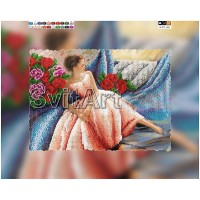 """Схема на холсте с подрамником для вышивки бисером """"Балерина"""" (Схема или набор)"""