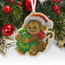 """Новогодняя деревянная игрушка для вышивки бисером или нитками """"Обезьянка"""""""