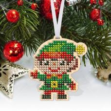 """Новогодняя деревянная игрушка для вышивки бисером или нитками """"Щелкунчик"""""""