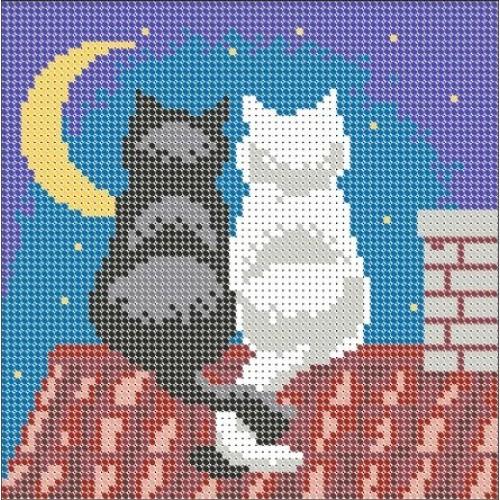 Вышивка котов на крыше 91