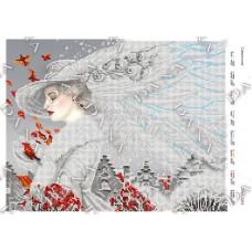 """Схема для вышивки бисером """"Сніжна пані"""" (Схема или набор)"""