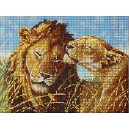 Схемы для вышивки бисером львы