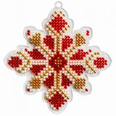 """Набор для вышивки бисером на пластике """"Снежинка FLPL-021"""""""