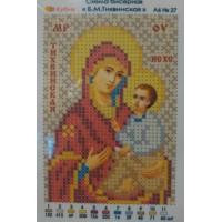 Икона для вышивки бисером «Божия Матерь Тихвинская» (Схема или набор)
