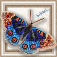 Набор магнит- бабочка для вышивки стразами «Анютины глазки»