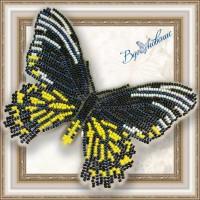 Набор магнит- бабочка для вышивки бисером «Золотая птицекрылка Радамант»