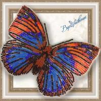 Набор магнит- бабочка для вышивки бисером «Агриас Нарцисс»