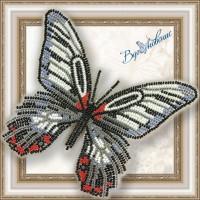 Набор магнит- бабочка для вышивки бисером «Парусник Румянцева».