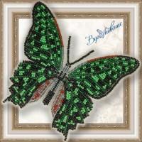 Набор магнит- бабочка для вышивки бисером «Графия Агамнемнон»