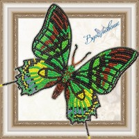 Набор магнит- бабочка для вышивки бисером «Тейнопальпус императорский».