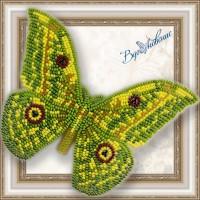 Набор магнит- бабочка для вышивки бисером «Аурилливиус Трирамис».