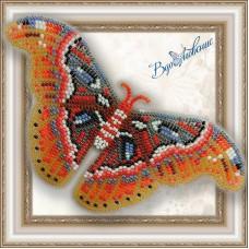 Набор магнит- бабочка для вышивки бисером «Павлиноглазка атлас»