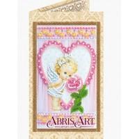 Набор для вышивки бисером открытки «Ангелочек и роза».