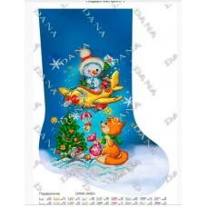"""Новогодний сапожок для вышивки бисером или нитками """"Подарочки"""" (Схема или набор)"""
