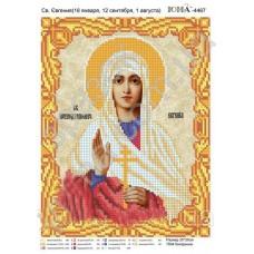 Икона для вышивки бисером «Святая Евгения» (Схема или набор)