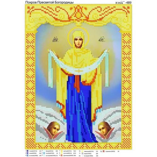 Схема вышивки покров богородицы