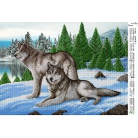"Схема под вышивку бисером ""Волки"" (схема или набор)"