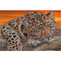 """Схема или набор для вышивки бисером бисером """"Леопард"""""""