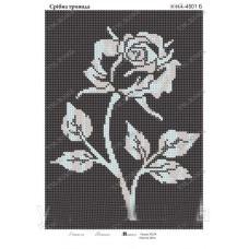 """Схема для вышивки бисером """"Серебряная роза"""" (Схема или набор)"""