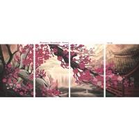 """Модульная картина под вышивку бисером """"Волшебство Японии"""" (картина или набор)"""