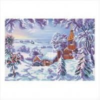 Зимний пейзаж (схема или набор)
