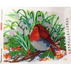 """Схема для вышивки бисером """"Подснежники и птица"""" (Схема или набор)"""
