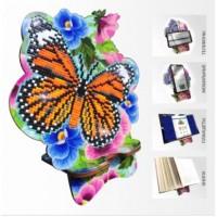Набор для алмазной выкладки Подставка под телефон АРМ-05. Бабочка и Анютыны глазки