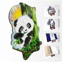 Набор для алмазной выкладки Подставка под телефон АРМ-06. Пандочка в бамбуковой роще
