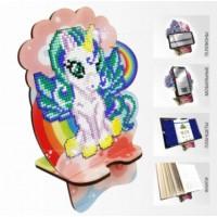 Набор для алмазной выкладки Подставка под телефон АРМ-07. Единорожек на радуге