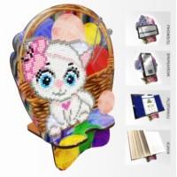 Набор для алмазной выкладки Подставка под телефон АРМ-08. Кошечка Рукодельница