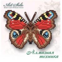Набор магнит- бабочка для вышивки стразами «Павлиний глаз (AGLAIS IO)»