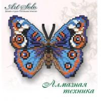 Набор магнит- бабочка для вышивки стразами «Анютины глазки  (JUNONIA ORITHYA)»