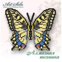 Набор магнит- бабочка для вышивки стразами «Махаон (PAPILIO MACHAON)»