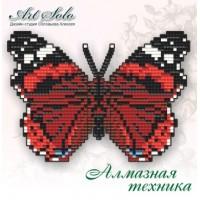 Набор магнит- бабочка для вышивки стразами «Красный адмирал (VANESSA ATALANTA)»