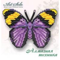 Набор магнит- бабочка для вышивки стразами «Золотистый лесник  (EUPHAEDRA-NEOPHRON)»