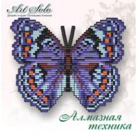 Набор магнит- бабочка для вышивки стразами «Яркий Коммодор (PRECIS OCTAVIA)»
