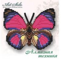Набор магнит- бабочка для вышивки стразами «Дикий Велизар»