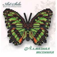 Набор магнит- бабочка для вышивки стразами «Малахитовая (SIPROETA STELENES)»