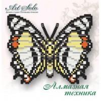 Набор магнит- бабочка для вышивки стразами «Благородный Харакс (CHARAXES NOBILIS)»