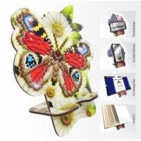 Набор для алмазной выкладки Подставка под телефон APM-01. Бабочка в ромашках.