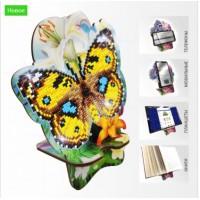 Набор для алмазной выкладки Подставка под телефон APM-02. Бабочка и Лилии.
