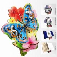 Набор для алмазной выкладки Подставка под телефон APM-04. Бабочка и Орхидея