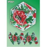 Набор для алмазной вышивки новогодней игрушки «Новогодний шар «Маки»»