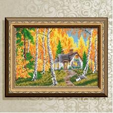 """Набор алмазной вышивки """"Домик в лесу. Осень."""""""