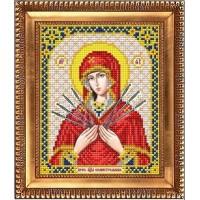 """Схема для вышивки бисером  """"Пресвятая Богородица Семистрельная"""" (Схема или набор)"""